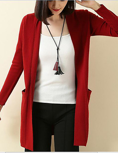 Women's Going out Daily Vintage Casual Cute Regular Cardigan