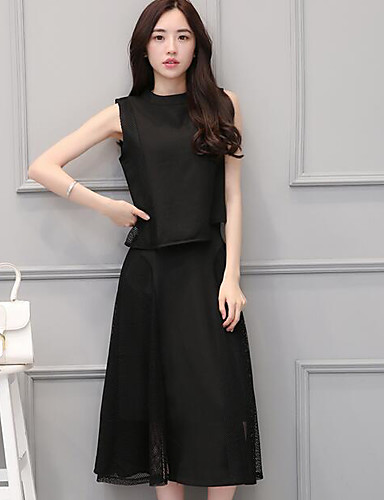 Women's Casual Casual Summer Blouse Skirt Suits
