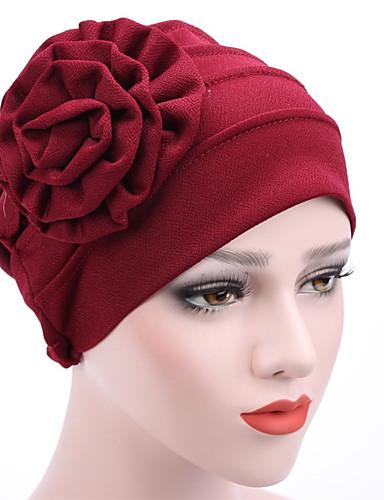 Női Kollázs Vegyes szín Pamut, Kalap / Virág - Széles karimájú kalap / Nyár