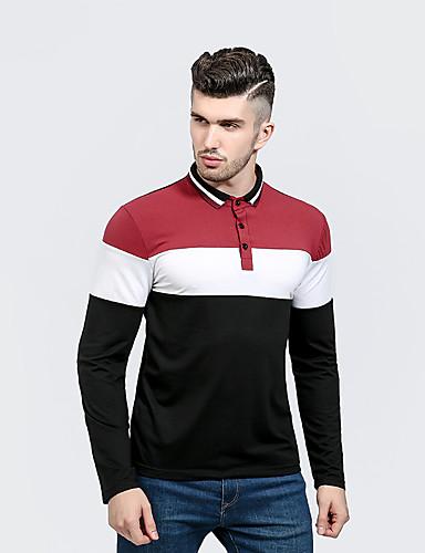 Herrn Einfarbig Polo, Hemdkragen