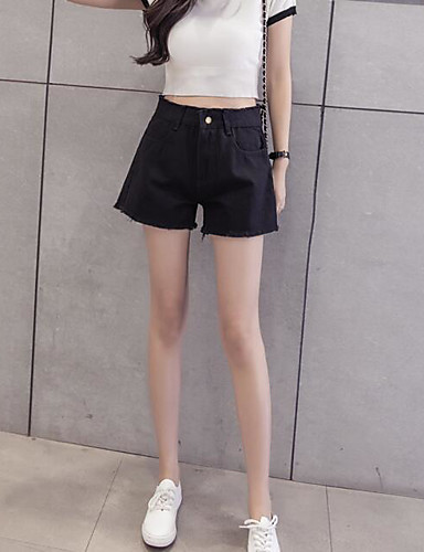 Women's Casual Relaxed / Shorts Pants - Solid Colored / Summer