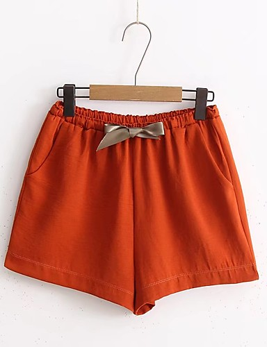 Women's Mid Rise Inelastic Shorts Pants,Street chic Loose Ripped Solid