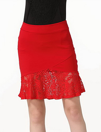 Women's Casual Bodycon Skirts - Solid Colored