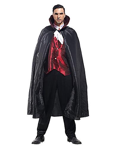 billige Halloween- og karnevalkostymer-Film & Tv Kostymer Cosplay Kostumer Party-kostyme Herre Menn Uniform Halloween Karneval Festival / høytid polyester Drakter Svart Lapper