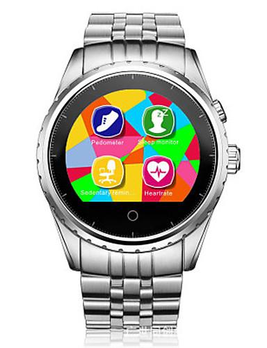 Men's Smart Watch Fashion Watch Digital Stainless Steel Band Black Silver