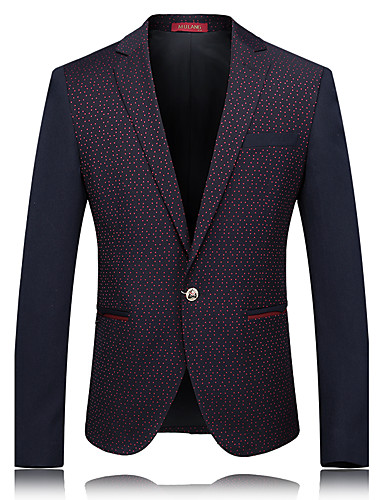 Men's Going out Casual/Daily Work Casual Spring/Fall Blazer