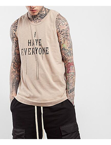 Men's Sports Going out Daily Casual Street chic Active Summer Fall Tank Top