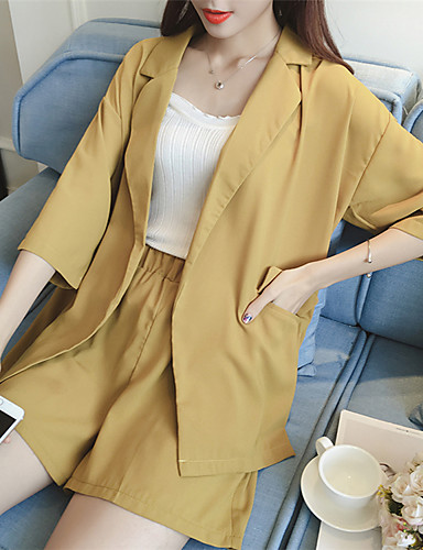 Women's Work Casual/Daily Casual Summer Fall Suit