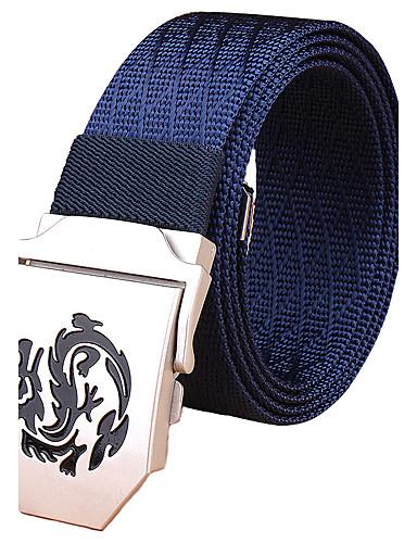 Men's Stripes Alloy Waist Belt - Solid Colored