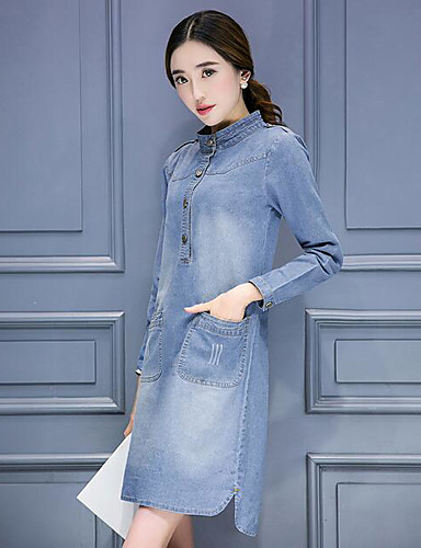 Women's Going out Daily Simple Denim Dress
