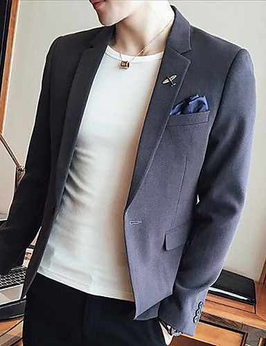 Men's Casual/Daily Casual Spring Blazer