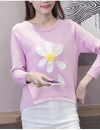 Women's Long Sleeve Pullover Print / Winter
