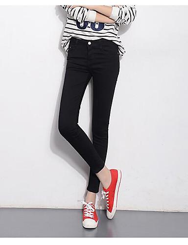 Women's High Waist Micro-elastic Skinny Culotte Pants,Simple Slim Solid