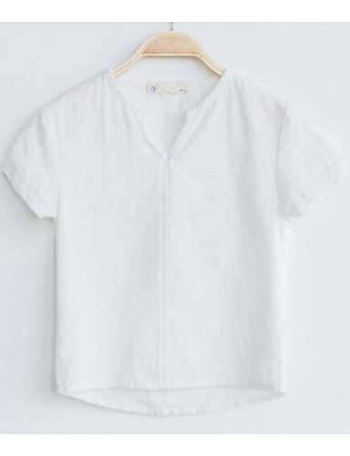 Boys' Solid Print Tee,Cotton Summer Short Sleeve Regular