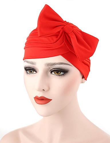 abordables Accessoires Femme-Femme Coton Chapeau Fleur Capeline-Noeud,Couleur Pleine Gris Foncé Marine Bleu royal Printemps & Automne Eté