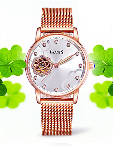 Women's Fashion Watch Mechanical Watch Automatic self-winding Water Resistant / Water Proof Alloy Band Silver Gold