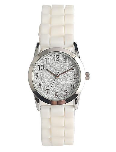 Mulheres Quartzo Relógio Pavé Relógio de Pulso Japanês / Silicone Banda Casual Fashion Branco