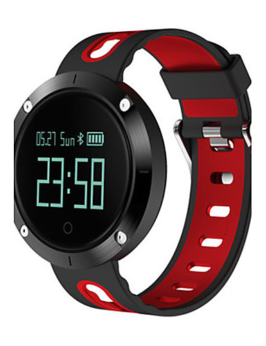 Men's Smart Watch Digital Silicone Band Black Silver Red Green Grey Yellow
