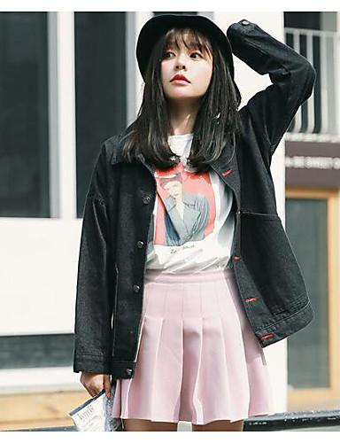 Women's Modern / Contemporary Cotton Jacket Print Shirt Collar