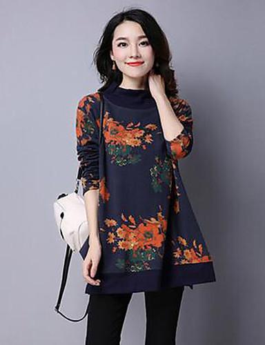 Women's Sweatshirt Round Neck Inelastic Cotton Long Sleeve Winter