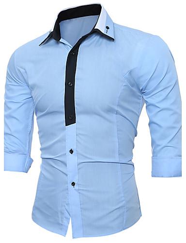 Homens Camisa Social Fashion Côr Misturada, Estampa Colorida Luxo Moderno
