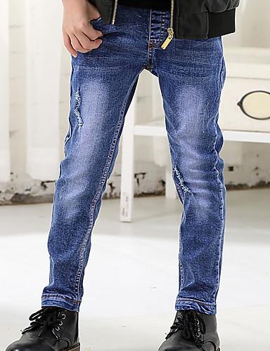Boys' Cartoon Print Jeans-Cotton All Seasons