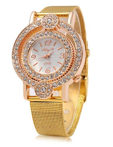 Mulheres Quartzo Relógio de Pulso Chinês Mostrador Grande Metal Banda Luxo Brilhante Fashion Dourada