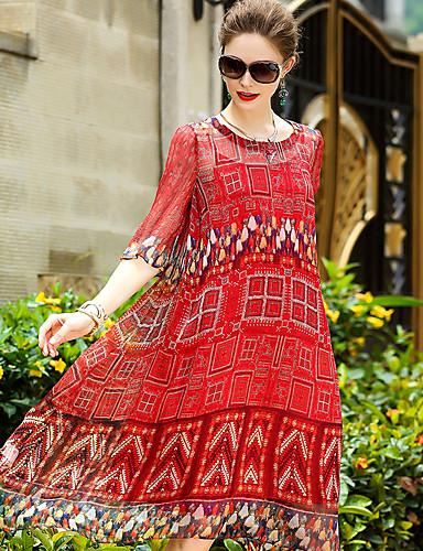 YENMEINAR Women's Cute Sheath Dress Print