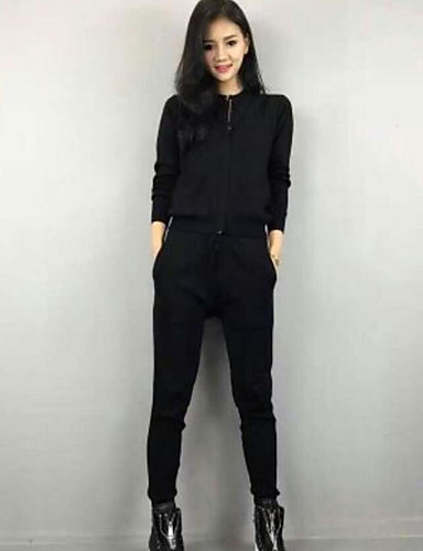 Women's Daily Casual Summer Hoodie Pant Suits