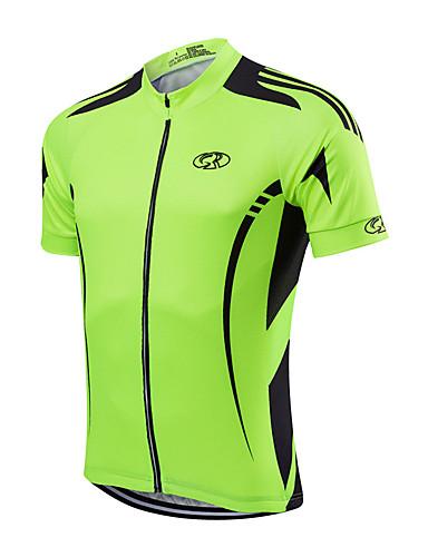hesapli Bisiklet Formaları-Fastcute Erkek Bisiklet Ceketi Kırmzı Mavi Açık Yeşil Tek Renk Bisiklet Forma Spor Dalları Polyester Dağ Bisikletçiliği Yol Bisikletçiliği Giyim / Hızlı Kuruma / Streç / Gelişmiş / Gelişmiş
