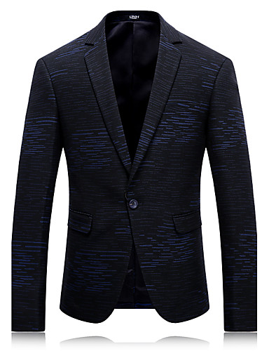 Men's Daily Simple Casual Winter Regular Blazer, Solid Notch Lapel Rayon