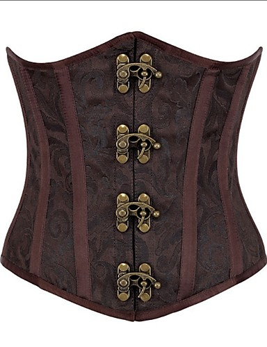 Women's Lace Up Plus Size Overbust Corset-Jacquard