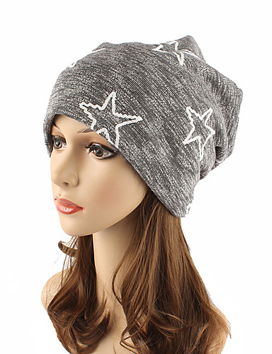 Women's Headwear Cute Chic & Modern Knitwear Cotton Beanie / Slouchy Floppy Hat - Striped Pure Color