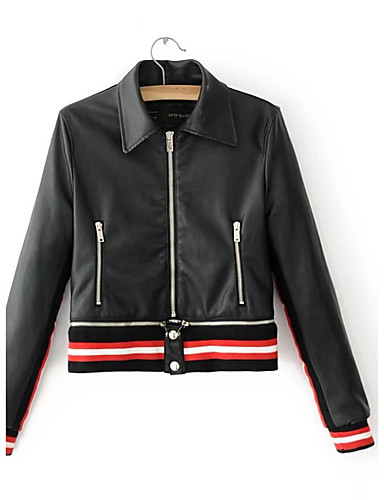 Women's Sports Going out Casual Street chic Punk & Gothic Spring Fall Leather Jacket
