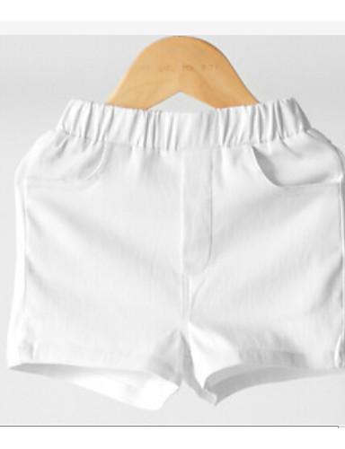 Girls' Solid Shorts Summer White