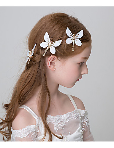 Girls Hair Accessories,All Seasons Alloy White