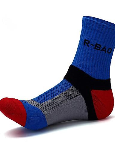 cheap Cycling Clothing-Compression Socks Sport Socks / Athletic Socks Cycling Socks Men's Yoga Hiking Climbing Bike / Cycling Anatomic Design Protective 1 Pair Cotton Spandex Chinlon Blue White Black L-XL / Stretchy