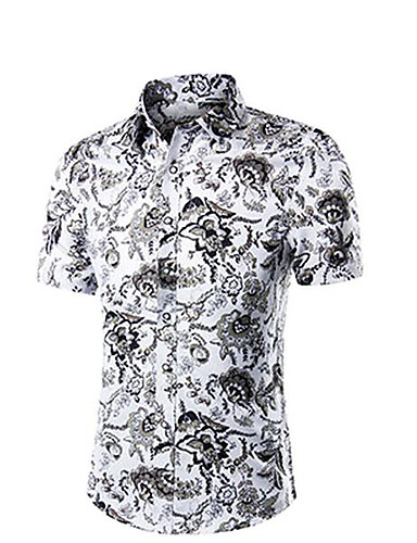 Men's Casual/Daily Work Simple Polo,Solid Shirt Collar Short Sleeves Cotton Others