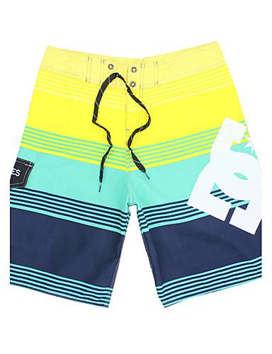Men's Bottoms - Striped Board Shorts
