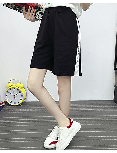 Women's Mid Rise Micro-elastic Shorts Pants,Simple Relaxed Solid
