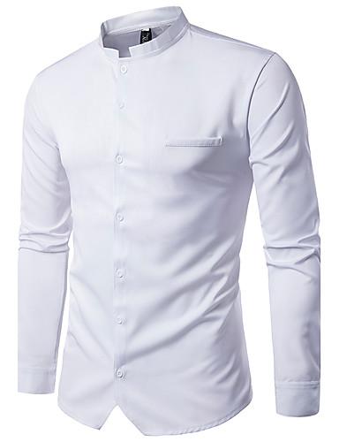 Herrn Solide - Street Schick Baumwolle Hemd, Stehkragen