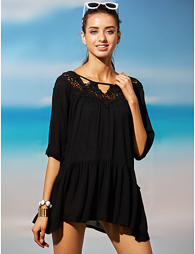 Women's Boho Cover-Up - Solid Colored