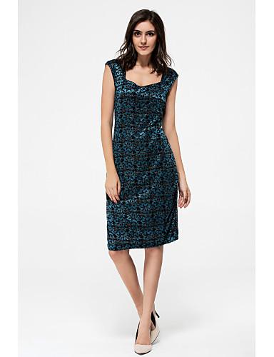 فستان نسائي قياس كبير ثوب ضيق راقي فوق الركبة لون سادة شق الصدر