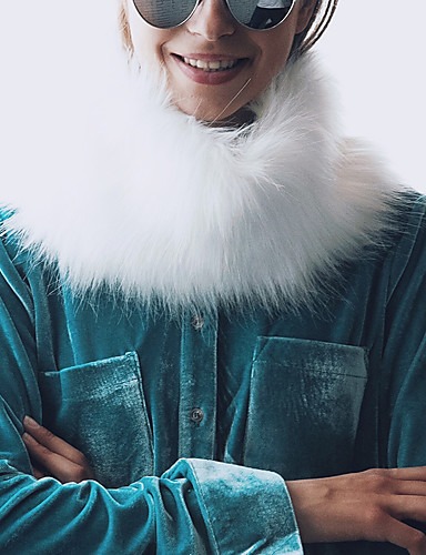 Damen Winter Herbst Kunst-Pelz Infinity-Schal,Solide