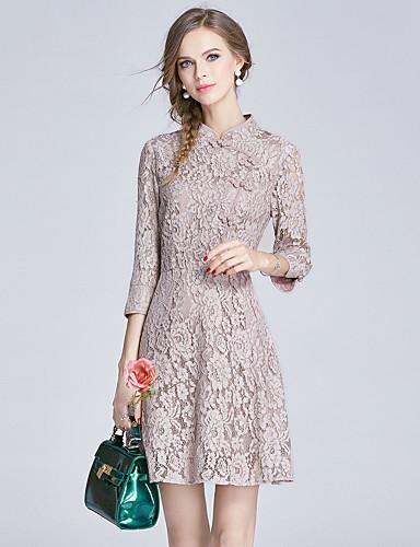 8ccca2565bd2 Γυναικείο Καθημερινά Εξόδου Καθημερινό Κινεζικό στυλ Εκλεπτυσμένο Γραμμή Α  Θήκη Δαντέλα Φόρεμα