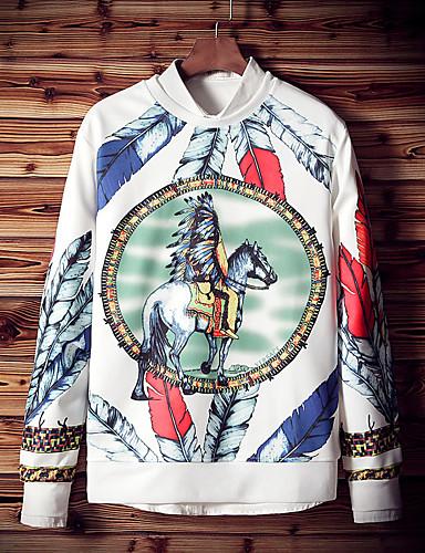 Herren Solide Druck Einfach Lässig/Alltäglich Übergröße Ausgehen T-shirt,Rundhalsausschnitt Frühling Herbst Kurzarm Polyester Elasthan