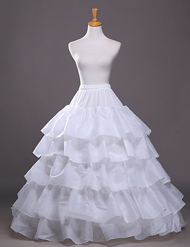 Wedding Party / Evening Party & Evening Slips Taffeta Tulle Floor-length A-Line Slip Ball Gown Slip Classic & Timeless with
