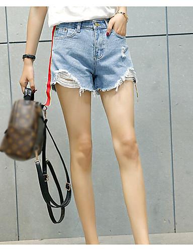 Damen Einfach Mittlere Hüfthöhe Unelastisch Kurze Hosen Breites Bein Hose Solide