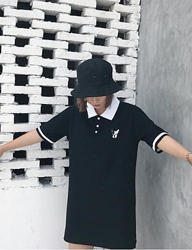 نساء تيشرت ذهاب للخارج بسيط سادة طباعة قبعة القميص كم قصير قطن