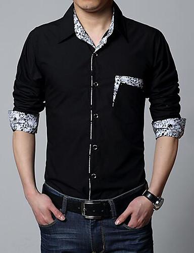 Majica Muškarci Dnevno Vikend Pamuk Jednobojni Slim